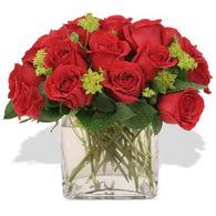 Çanakkale online çiçek gönderme sipariş  10 adet kirmizi gül ve cam yada mika vazo