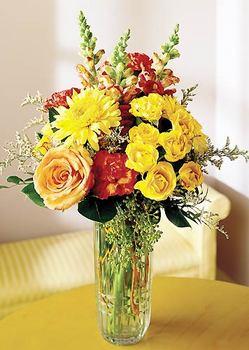 Çanakkale İnternetten çiçek siparişi  mika yada cam içerisinde karisik mevsim çiçekleri