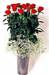 Çanakkale yurtiçi ve yurtdışı çiçek siparişi  9 adet kirmizi gül cam yada mika vazoda
