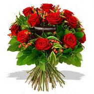 9 adet kirmizi gül ve kir çiçekleri  Çanakkale çiçek online çiçek siparişi