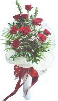 Çanakkale 14 şubat sevgililer günü çiçek  10 adet kirmizi gülden buket tanzimi özel anlara