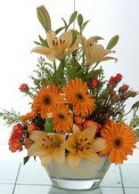 Çanakkale çiçekçi telefonları  cam yada mika vazo içinde karisik mevsim çiçekleri
