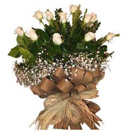 Çanakkale online çiçek gönderme sipariş  9 adet beyaz gül buketi
