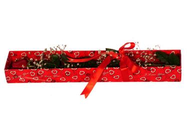 Çanakkale online çiçek gönderme sipariş  kutu içerisinde 1 adet kirmizi gül