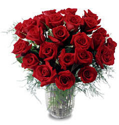 Çanakkale çiçekçiler  11 adet kirmizi gül cam yada mika vazo içerisinde