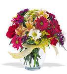 Çanakkale cicekciler , cicek siparisi  cam yada mika vazo içerisinde karisik kir çiçekleri