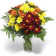Çanakkale hediye sevgilime hediye çiçek  Karisik çiçeklerden mevsim vazosu