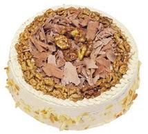 Karamelli 4 ile 6 kisilik yas pasta  Çanakkale internetten çiçek siparişi