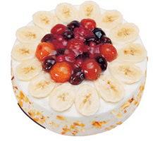 Meyvali 4 ile 6 kisilik yas pasta leziz  Çanakkale uluslararası çiçek gönderme
