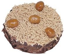 Kestahaneli yas pasta 4 ile 6 kisilik pasta  Çanakkale hediye sevgilime hediye çiçek