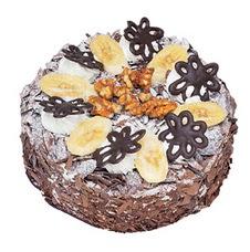 Muzlu çikolatali yas pasta 4 ile 6 kisilik   Çanakkale çiçek yolla , çiçek gönder , çiçekçi