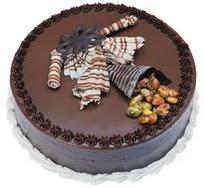 Çikolatali yas pasta 4 ile 6 kisilik  leziz  Çanakkale çiçek satışı