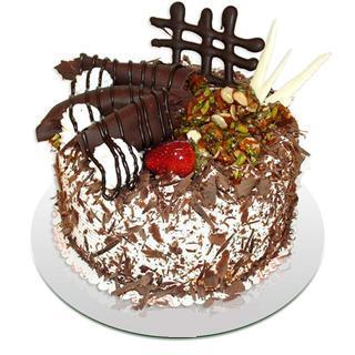 4 ile 6 kisilik çikolatali yas pasta  Çanakkale çiçek , çiçekçi , çiçekçilik