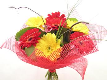 9 adet gerbera çiçeklerinden buket  Çanakkale cicek , cicekci