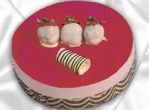 pasta siparisi 4 ile 6 kisilik yas pasta çilekli yaspasta  Çanakkale çiçekçi telefonları