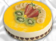 pasta gönderme 4 ile 6 kisilik yas pasta muzlu yaspasta  Çanakkale çiçek satışı