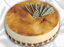taze pasta 4 ile 6 kisilik yas pasta karamelli yaspasta  Çanakkale çiçek servisi , çiçekçi adresleri