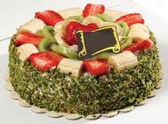 pasta gönder  4 ile 6 kisilik karisik meyvali yas pasta  Çanakkale çiçek mağazası , çiçekçi adresleri