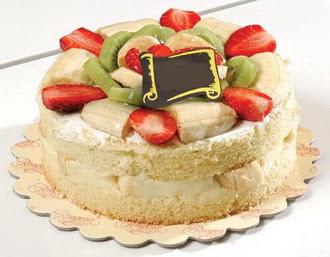pasta siparisi 4 ile 6 kisilik karisik meyvali yas pasta  Çanakkale çiçekçi telefonları