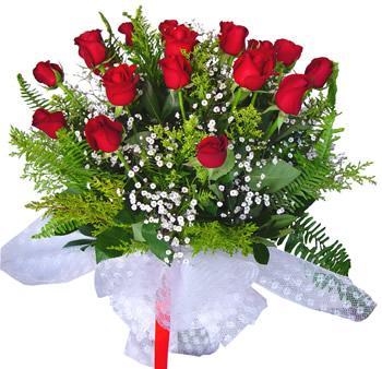 11 adet gösterisli kirmizi gül buketi  Çanakkale çiçek online çiçek siparişi