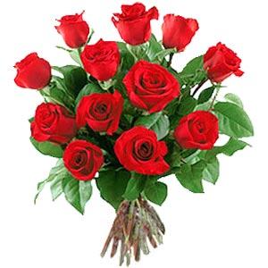 11 adet bakara kirmizi gül buketi  Çanakkale ucuz çiçek gönder