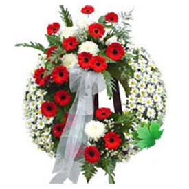 Cenaze çelengi cenaze çiçek modeli  Çanakkale çiçek yolla , çiçek gönder , çiçekçi