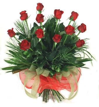 Çiçek yolla 12 adet kirmizi gül buketi  Çanakkale ucuz çiçek gönder