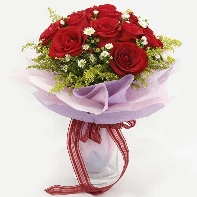 Çiçek gönderme estetikliginiz 11 gül buket  Çanakkale anneler günü çiçek yolla