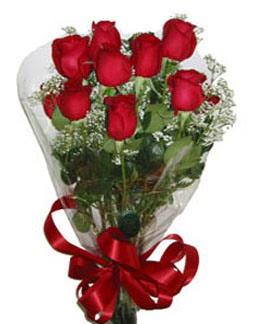 Çiçek sade gül buketi 7 güllü buket  Çanakkale güvenli kaliteli hızlı çiçek