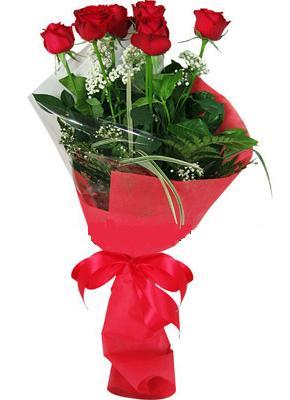 7 adet kirmizi gül buketi  Çanakkale çiçek siparişi sitesi