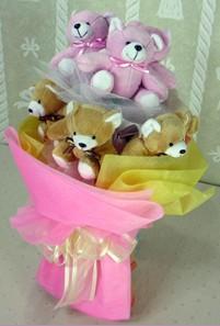 8 adet ayiciktan buket  Çanakkale yurtiçi ve yurtdışı çiçek siparişi