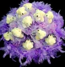 11 adet pelus ayicik buketi  Çanakkale cicekciler , cicek siparisi