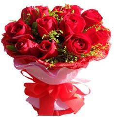 9 adet kirmizi güllerden kipkirmizi buket  Çanakkale çiçek servisi , çiçekçi adresleri