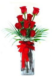 Çanakkale online çiçek gönderme sipariş  9 adet mika yada cam vazoda gül tanzimi