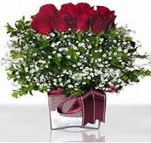 Çanakkale çiçek online çiçek siparişi  mika yada cam vazo içerisinde 7 adet gül