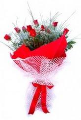Çanakkale internetten çiçek satışı  9 adet kirmizi gül buketi demeti
