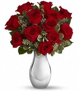 Çanakkale kaliteli taze ve ucuz çiçekler   vazo içerisinde 11 adet kırmızı gül tanzimi