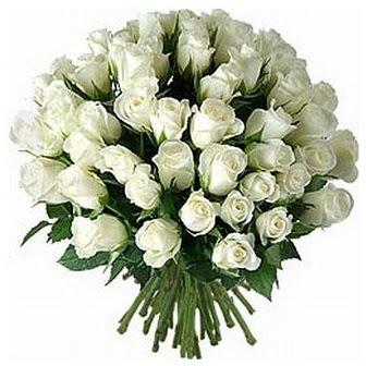 Çanakkale çiçekçi telefonları  33 adet beyaz gül buketi