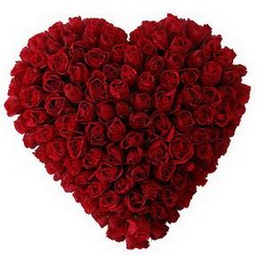 Çanakkale anneler günü çiçek yolla  muhteşem kırmızı güllerden kalp çiçeği