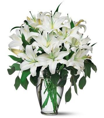 Çanakkale çiçek online çiçek siparişi  4 dal kazablanka ile görsel vazo tanzimi