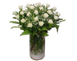 Çanakkale hediye çiçek yolla  cam yada mika Vazoda 12 adet beyaz gül - sevenler için ideal seçim
