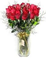 27 adet vazo içerisinde kırmızı gül  Çanakkale internetten çiçek satışı