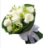 9 adet beyaz gül buketi  Çanakkale hediye sevgilime hediye çiçek