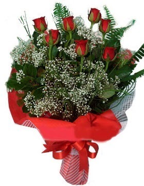 7 kırmızı gül buketi  Çanakkale çiçekçi telefonları