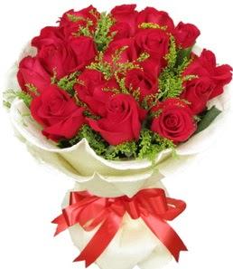19 adet kırmızı gülden buket tanzimi  Çanakkale çiçekçi telefonları