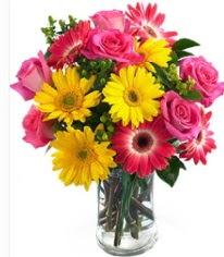 Vazoda Karışık mevsim çiçeği  Çanakkale anneler günü çiçek yolla