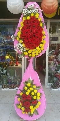 Çift katlı düğün nikah açılış çiçek modeli  Çanakkale çiçek servisi , çiçekçi adresleri