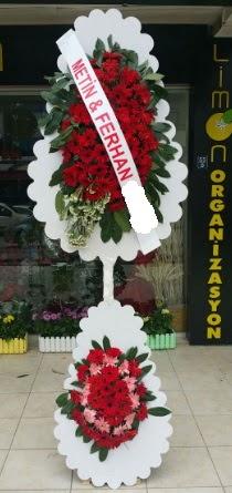 Çift katlı düğün nikah çiçeği modeli  Çanakkale hediye sevgilime hediye çiçek