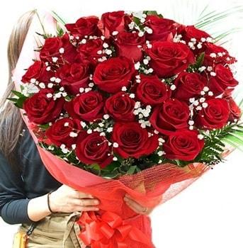 Kız isteme çiçeği buketi 33 adet kırmızı gül  Çanakkale çiçekçiler