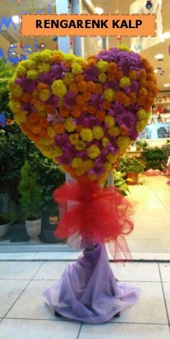 Ankara mevsim çiçeklerinden kalp perförje  Çanakkale online çiçek gönderme sipariş